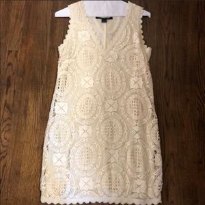 French Connection Cream Lace Dress